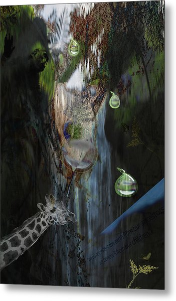 Zoo Friends Metal Print