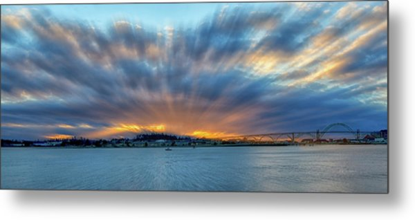 Zoomed Sunset Metal Print