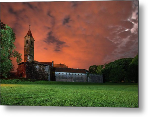 Metal Print featuring the photograph Zrinskis' Castle 2 by Davor Zerjav
