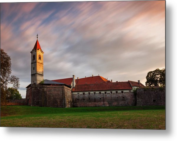Metal Print featuring the photograph Zrinskis' Castle by Davor Zerjav