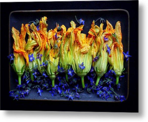 Zucchini Flowers Metal Print