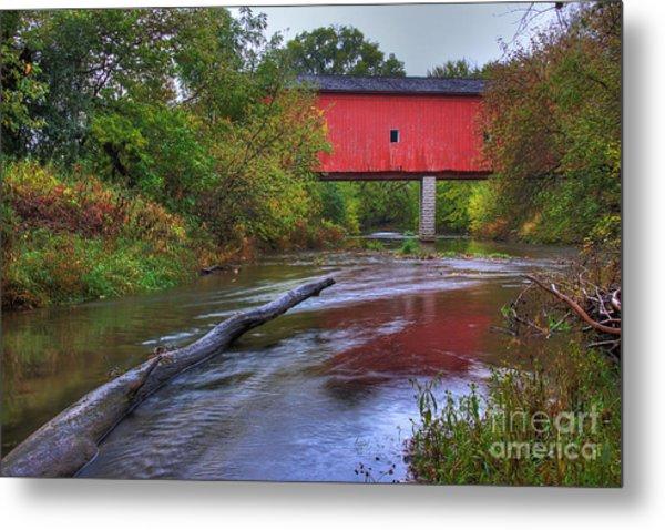 Zumbrota Minnesota Historic Covered Bridge 5 Metal Print