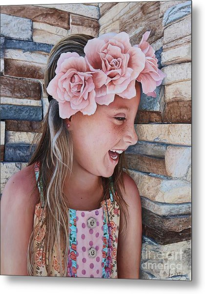 Metal Print featuring the painting Zuri Painting by Mike Ivey
