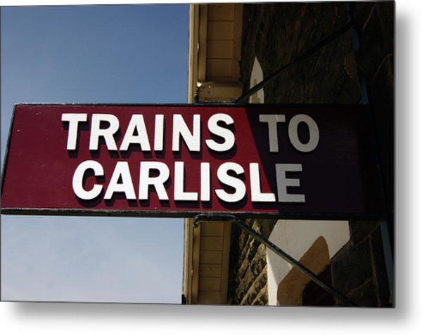 06/06/14 Settle. Station View. Destination Board. Metal Print