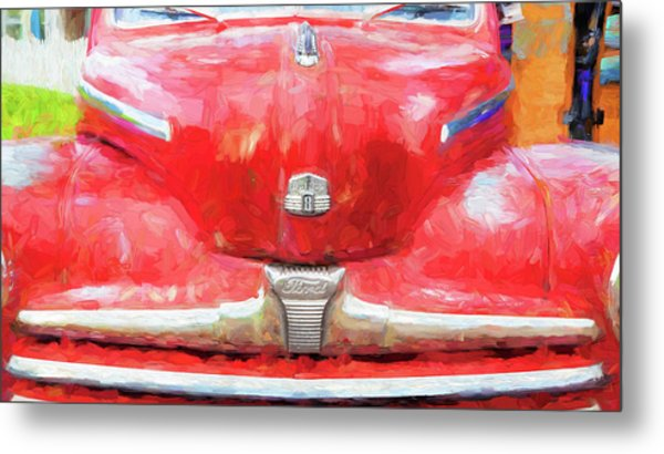 1947 Ford Super Deluxe Coupe 006 Metal Print