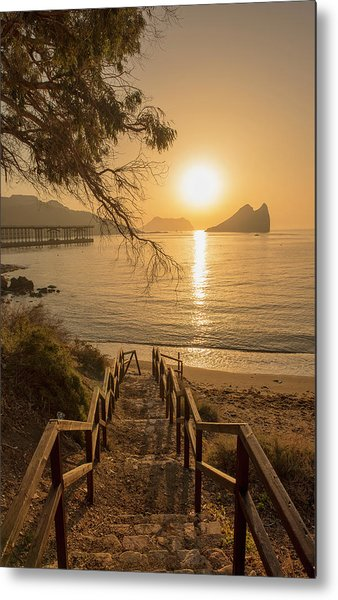 Access To The Beach At Dawn Metal Print