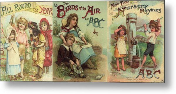 1 Abc Book Covers For Mugs Metal Print
