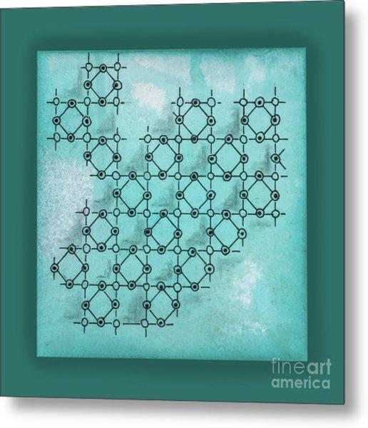 Abstract Biological Illustration Metal Print