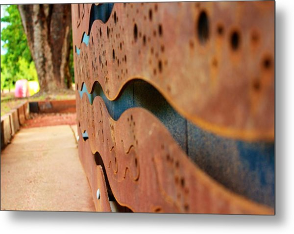 1 Abstract Lake Patricia Sign 3 Metal Print