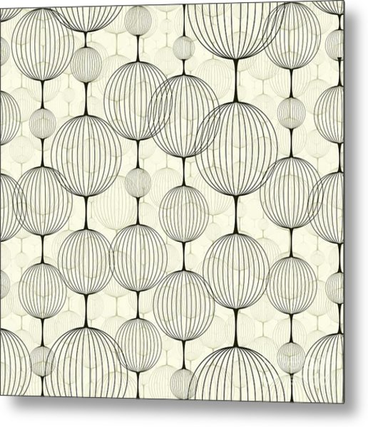 Abstract Seamless Pattern,  Background Metal Print