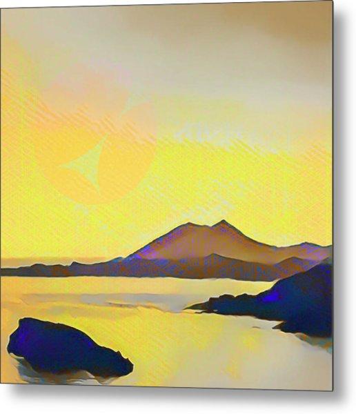 Aegean Sea And Sun Metal Print