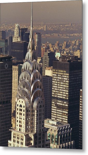 Aerial View Of The Chrysler Building Metal Print by New York Daily News Archive