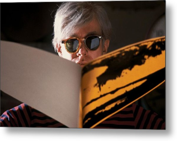 Andy Warhol In New York, United States Metal Print by Herve Gloaguen