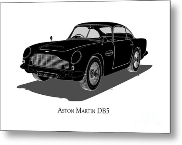 Aston Martin Db5 - Front View Metal Print