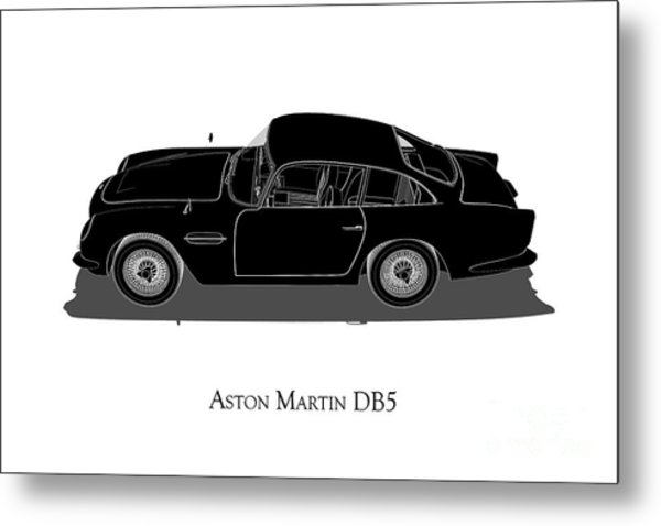 Aston Martin Db5 - Side View Metal Print