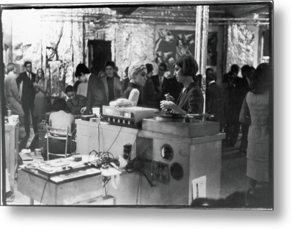 At A Factory Party Metal Print by Fred W. McDarrah