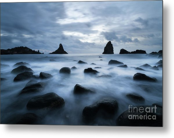 At The Feet Of The Colossus Metal Print