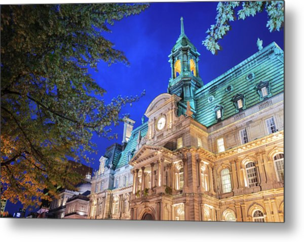 Autumn Colored Trees, Hotel De Ville Metal Print
