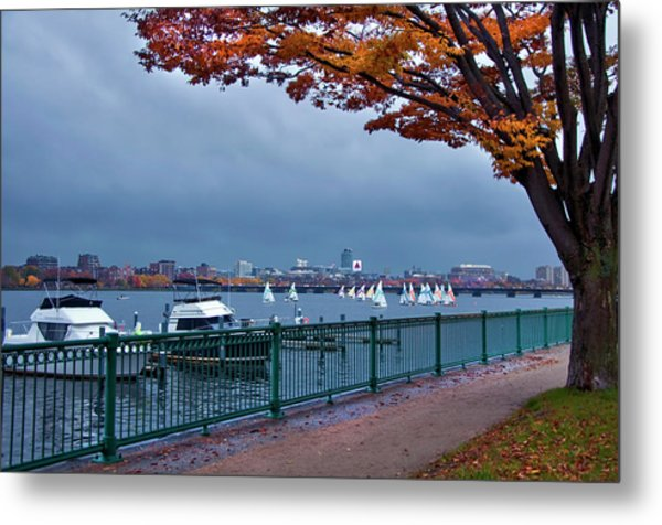 Metal Print featuring the photograph Autumn On The Charles River - Boston by Joann Vitali