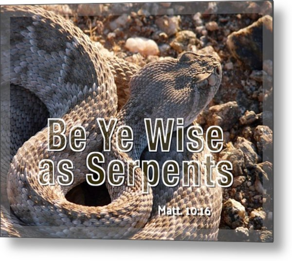 Be Ye Wise As Serpents Metal Print