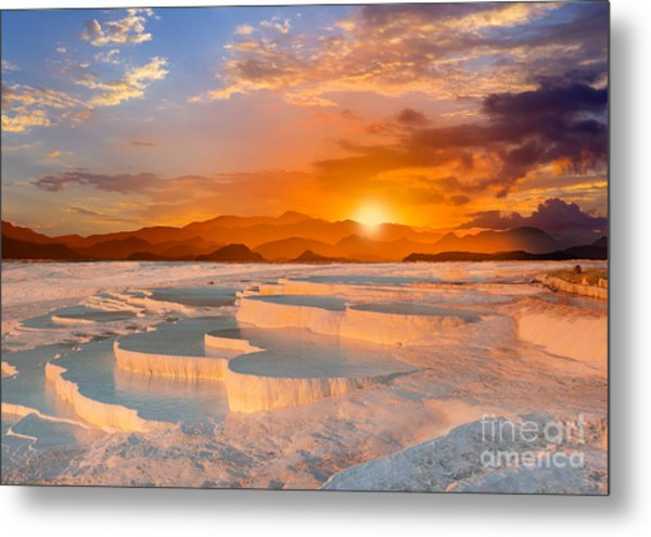 Beautiful Sunrise And Natural Metal Print