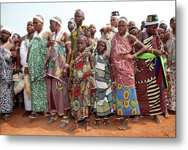 Benins Mysterious Voodoo Religion Is Metal Print by Dan Kitwood