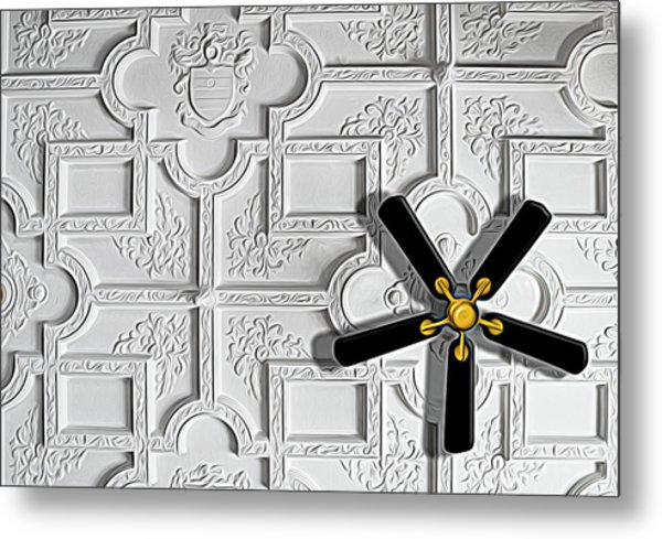 Black And White In Color Metal Print