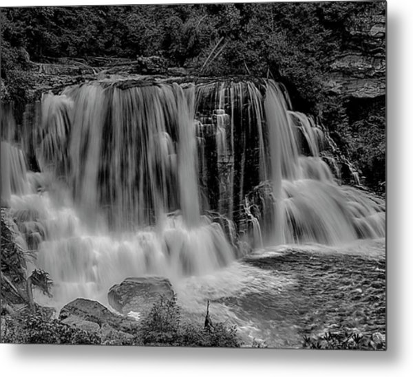 Metal Print featuring the photograph Blackwater Falls Mono 1309 by Donald Brown
