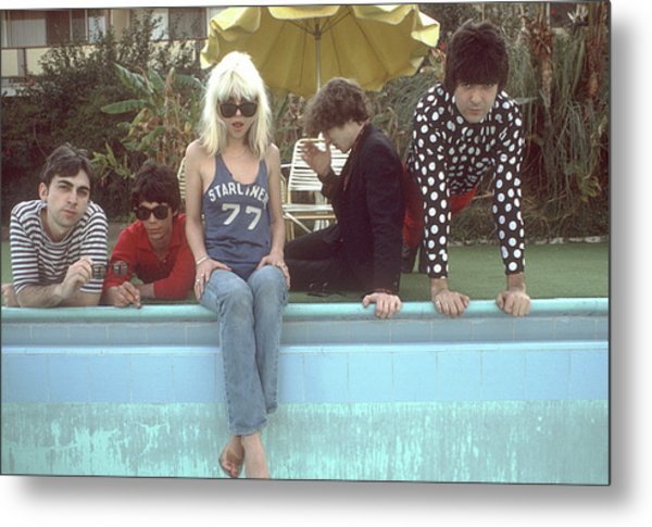 Blondie Portrait Session In La Metal Print by Michael Ochs Archives