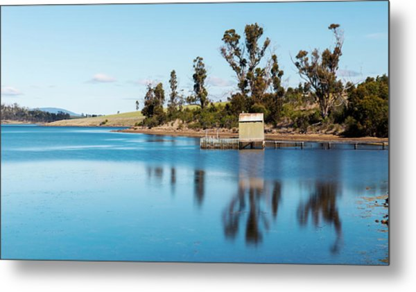 Metal Print featuring the photograph Boat Jetty Found On Bruny Island In Tasmania, Australia. by Rob D