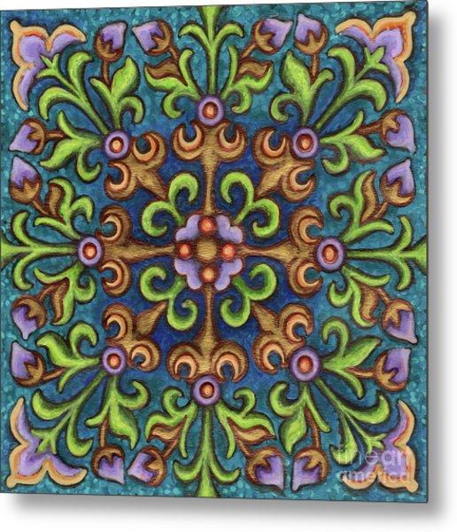 Botanical Mandala 8 Metal Print
