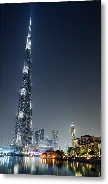Burj Khalifa, Tallest Building In The Metal Print