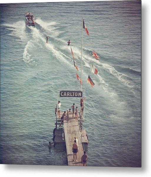 Cannes Watersports Metal Print by Slim Aarons