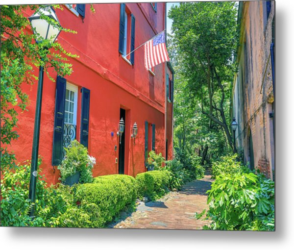 Charleston Sidewalk Metal Print