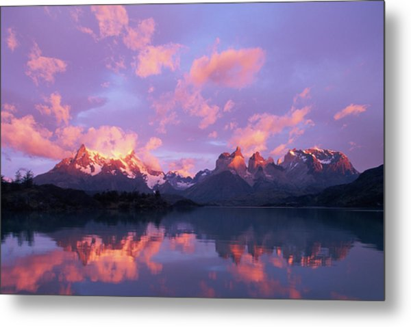 Chile, Patagonia, Torres Del Paine Np Metal Print by Paul Souders
