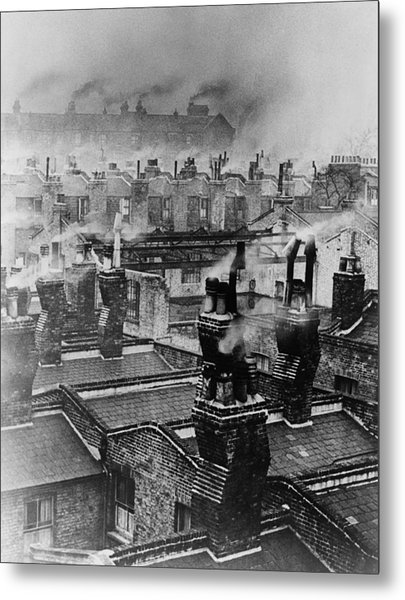 Chimney Smoke Metal Print by Fred Morley
