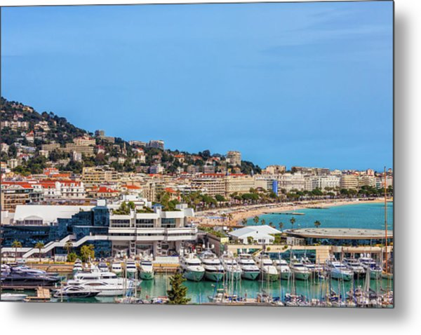City Of Cannes In France Metal Print
