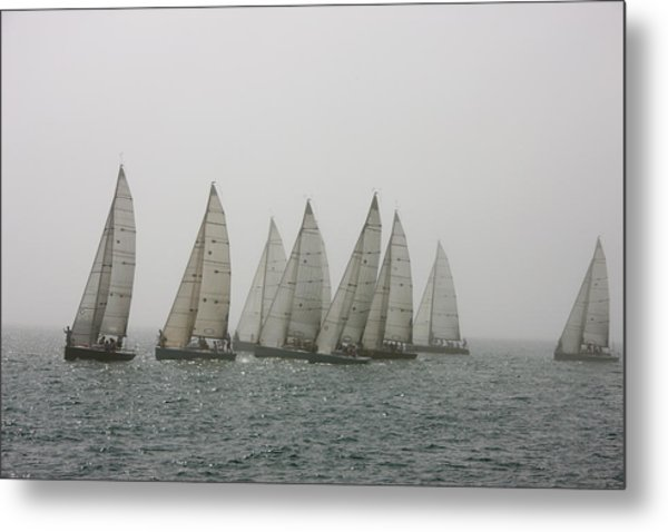 Competitive Sailing In Key West Metal Print