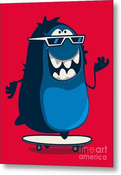 Cool Monster Graphic Metal Print