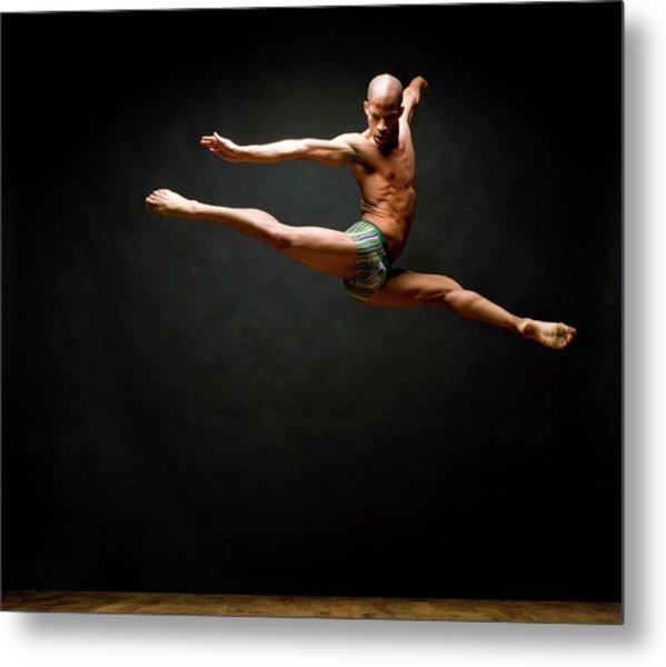 Dancer Leaping In Air Metal Print
