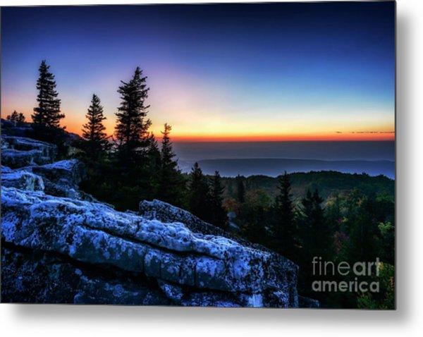 Dawn At Bear Rocks Preserve Metal Print