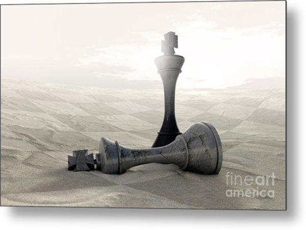Desert Chess Game Over Metal Print