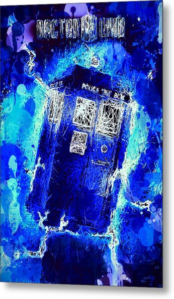 Doctor Who Tardis Metal Print