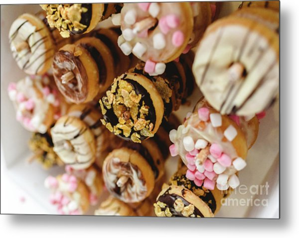 Donuts Of Different Flavors, To Put On An Unhealthy Diet Metal Print