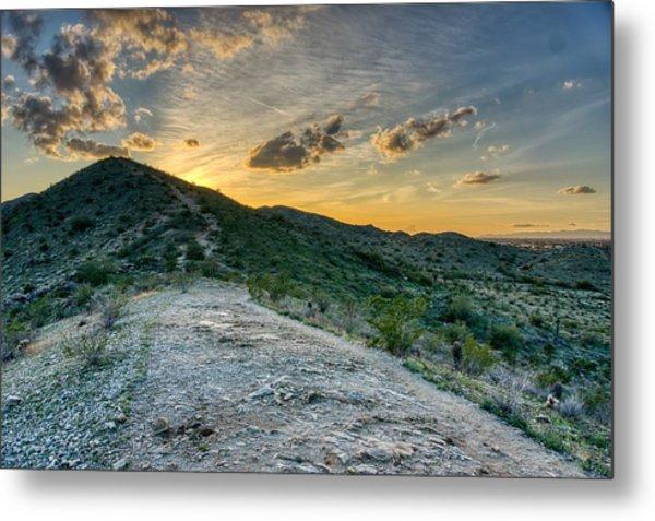 Dramatic Mountain Sunset  Metal Print