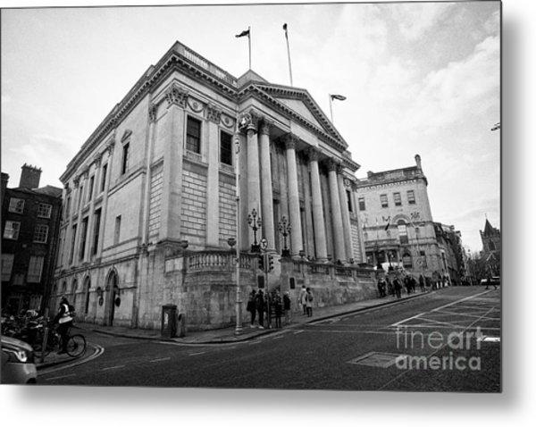 Dublin City Hall Originally The Royal Exchange Dublin Republic Of Ireland Europe Metal Print by Joe Fox