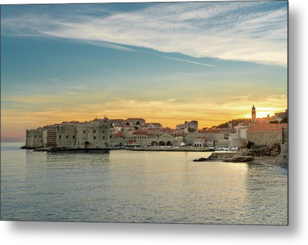 Dubrovnik Old Town At Sunset Metal Print