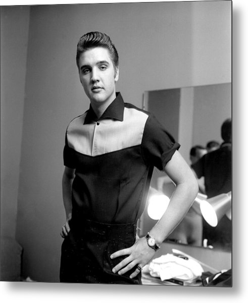 Elvis Presley On Milton Berle Metal Print by Michael Ochs Archives