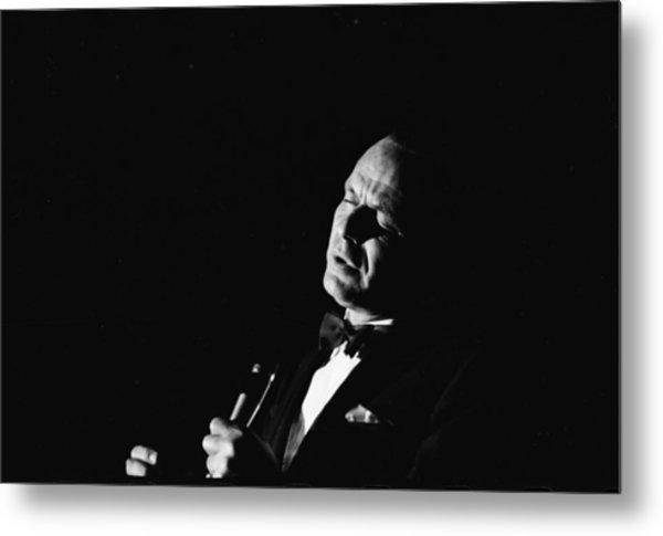 Entertainer Frank Sinatra Singing Metal Print by John Dominis