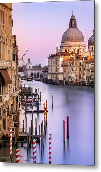 Evening Light In Venice Metal Print